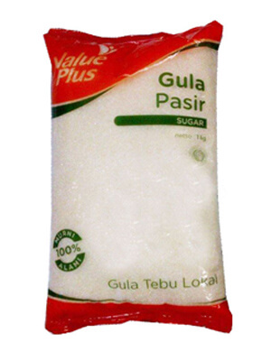 Kemasan gula pasir value plus Hypermart