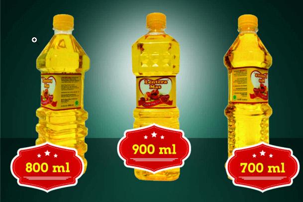 Kemasan minyak goreng botol