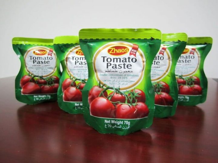 Kemasan saus tomato paste