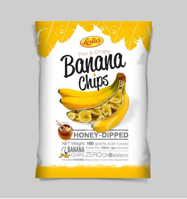 Kemasan leslie's banana chip