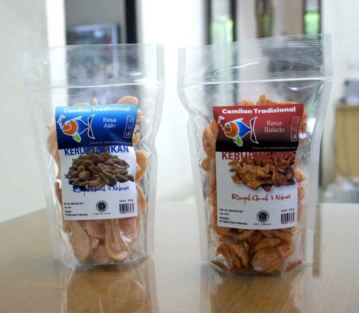 label kemasan snack sederhana