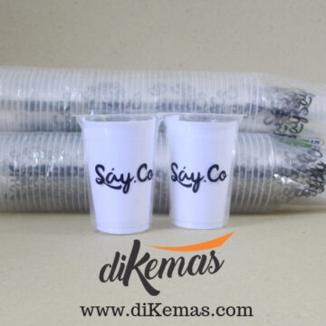 cup plastik 14 oz