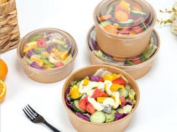 paper bowl salad buah