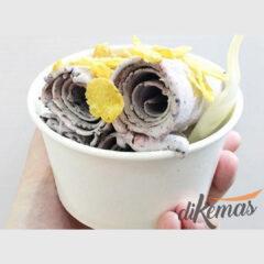 Usaha Es Krim Roll dengan Gelas Kertas Sekali Pakai Untungnya Menggiurkan!