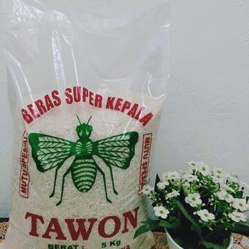 kemasan beras 5kg super tawon